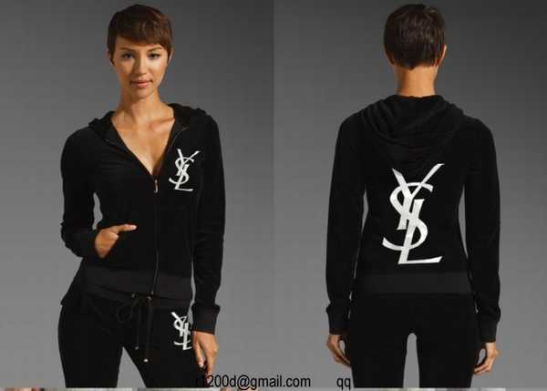 jogging yves saint laurent femme noir,survetement