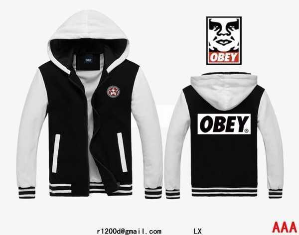 sweat obey noir et blanc,sweat obey a vendre,