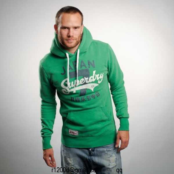 sweat shirt superdry homme vert